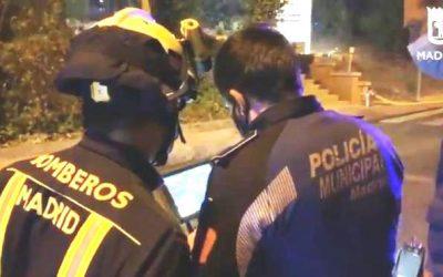 POLICÍA MUNICIPAL DE MADRID COLABORA CON SUS DRONES EN LA EXTINCIÓN DE INCENDIOS